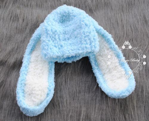 Crochet Bunny RabbitHat Beanie Newborn Baby Girl Boy Hat Toddler Kid Photo Prop