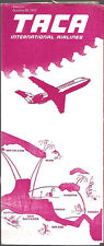 TACA International Airlines system timetable 10/29/72 [7052]