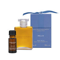 1 Set 2 Pcs Aromatherapy Associates Bath Shower Oil Deep Relax + Room Fragrance