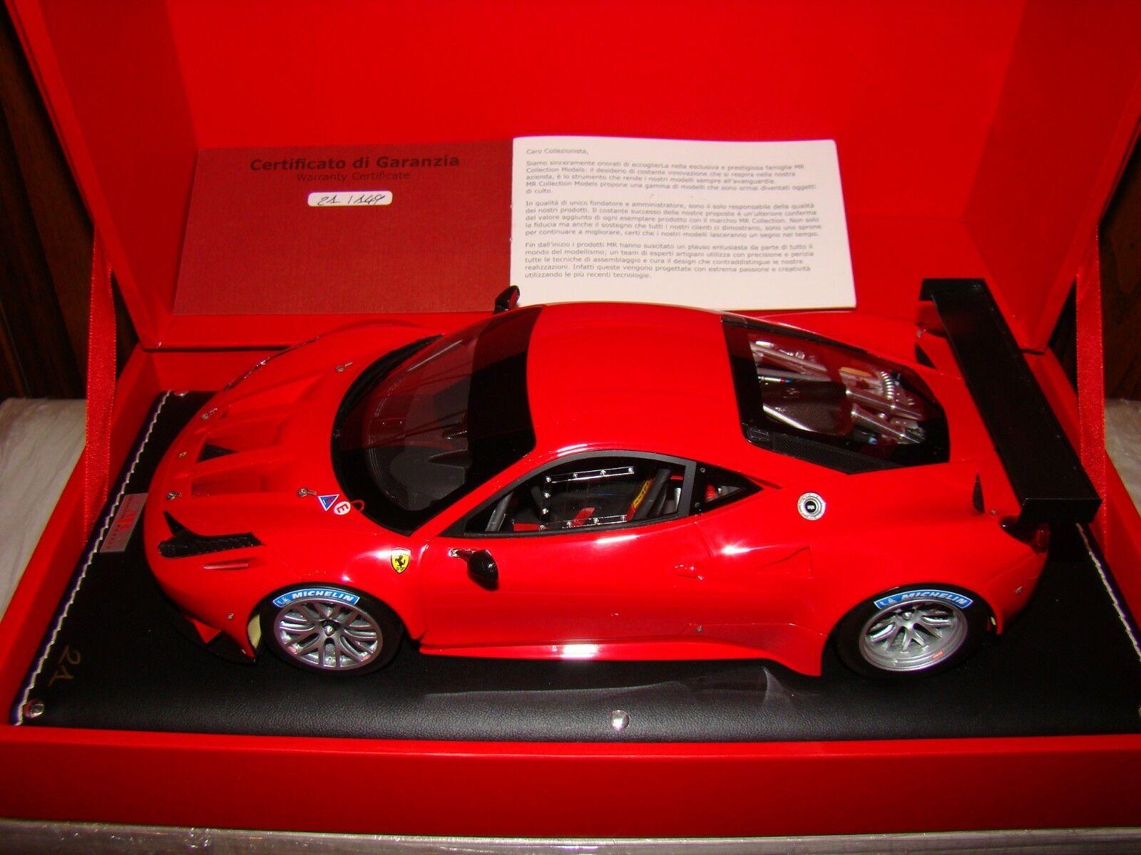 FERRARI 458 GT2  MR COLLECTION  ROSSO SCUDERIA  LIMITED EDITION 021/149 PCS