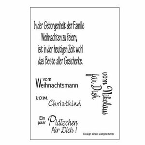 efco motivstempel stempel clear stamps weihnachten spr che. Black Bedroom Furniture Sets. Home Design Ideas