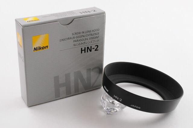 【TOP MINT in BOX】NIKON SCREW-IN LENS HOOD HN-2 METAL HOOD From JAPAN