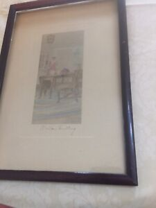Wallace-Nutting-hand-signed-Hand-Colored-Photograph-Interior-Photo