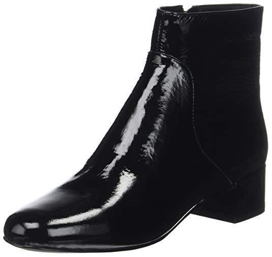 PVP  Aldo Talla 3 4 4 4 werca Negro Patente Cuero Real botas al Tobillo Tacón Bajo Plano 68a9e7