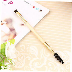 Fine-bamboo-handle-Makeup-tools-double-eyebrow-brush-Eyelash-brush-WJ