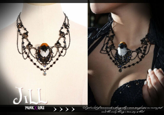 SteamPunk industrial revolution aristrocrat skylark amulet charm necklace SP125O