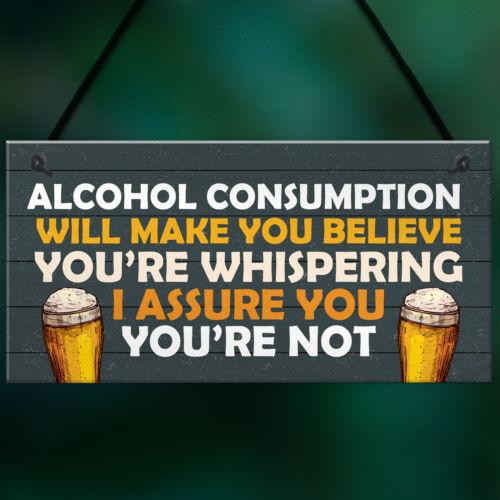 Funny Bar Sign Novelty Home Bar Man Cave Garden Sign Beer Alcohol Gift