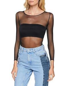64f71ef3faae9 SPANX Women's Sheer Fashion Mesh Thong Bodysuit Very Black - Size ...