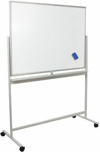 VIVO-Mobile-Dry-Erase-Board-48-034-x-32-034-Magnetic-Double-Sided-Whiteboard-Stand
