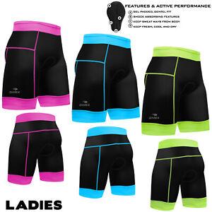 Femmes-Cyclisme-Rembourre-Cycle-Shorts-Compression-Coolmax-Anti-Bac-MTB-Bike-S-M-L