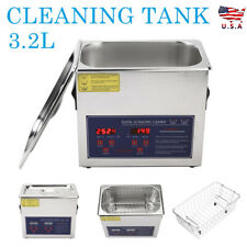 32l Digital Ultrasonic Cleaner Timer Heat Ultra Sonic Cleaning Stainless Tank
