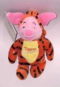"Disney 8/"" Tigger dressed AS Piglet Mini Bean Bag Beanie NWT from Winnie the Pooh"
