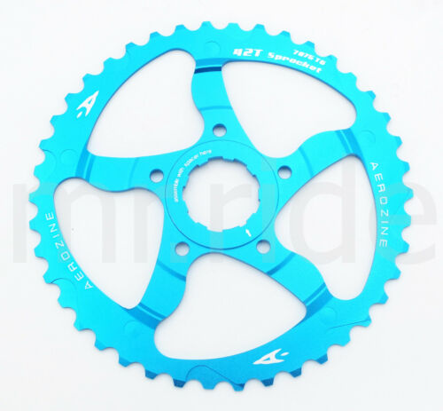 Aerozine CNC 42T Sprocket Cassettes +16T fit Shimano SRAM 10 speed Blue