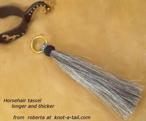 Horsehair tassel, horsehair Tassel, gray, shu fly, shoo fly, Brass O-ring, thick