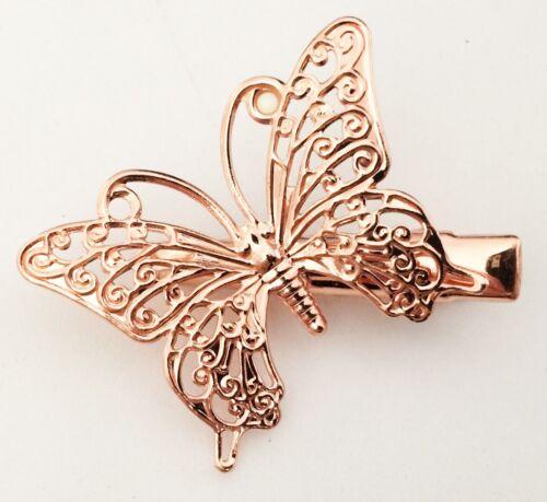 Nouveau Beau Papillon Pince à cheveux 3 Couleurs Vendeur Britannique