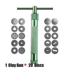 20 Discs Polymer Clay Fimo Extruder Craft Gun Sculpey Sculpting Sugarcraft Tools