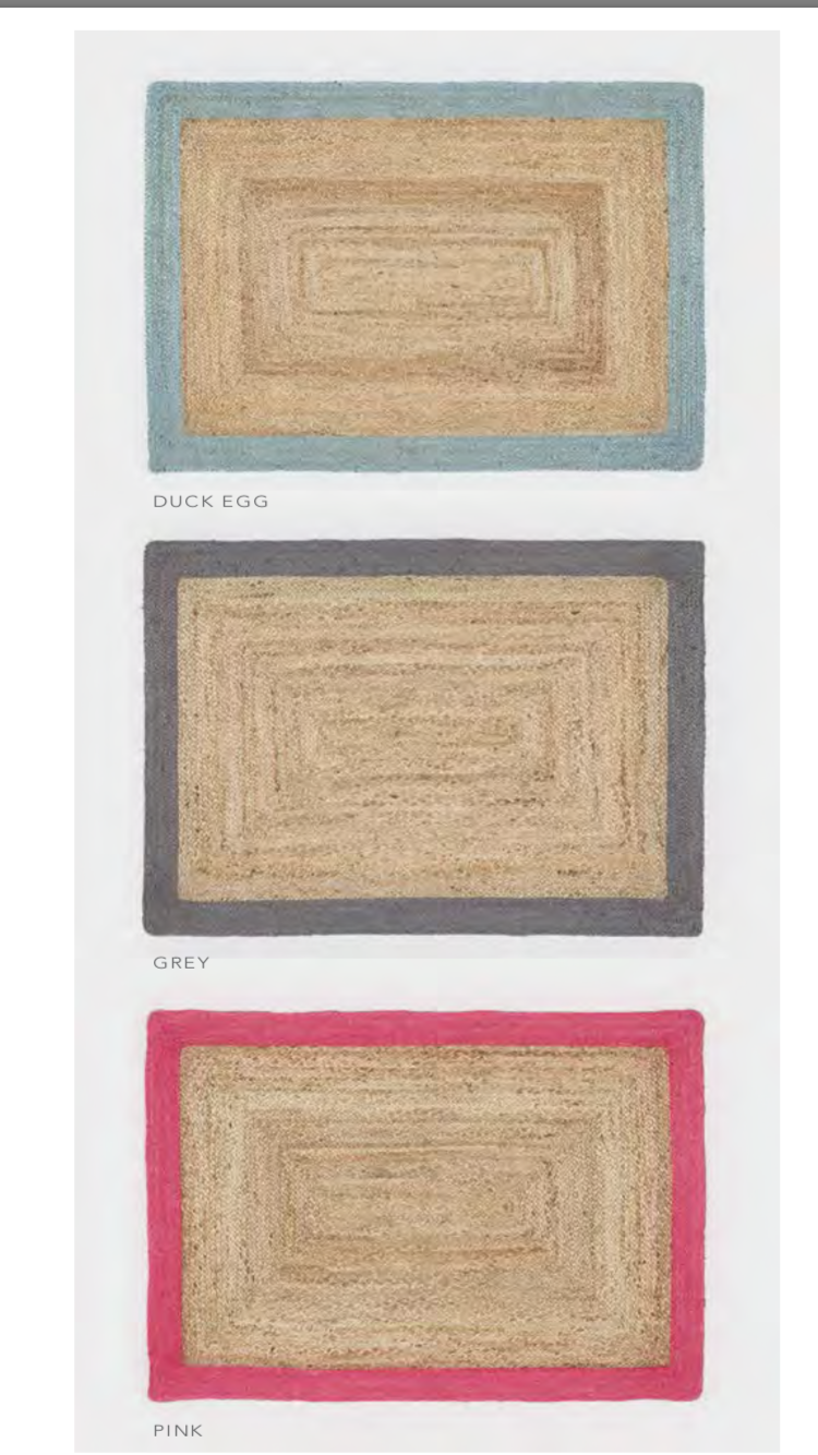 ORIGIN RUG COLLECTION 100% NATURAL HAND BRAIDED BOHO BOHO BOHO JUTE RUG COLOUrot EDGES 7863fc