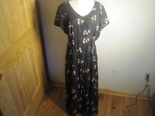 "Black Rose First Issue Liz Claiborne Dress - Size 14 - 54"" Length 42"" Chest"