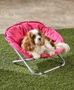 Foldable-Indoor-Outdoor-Pet-Bed-Dog-Cat-Smaller-Breeds-Chair-Blue-Gray-or-Pink