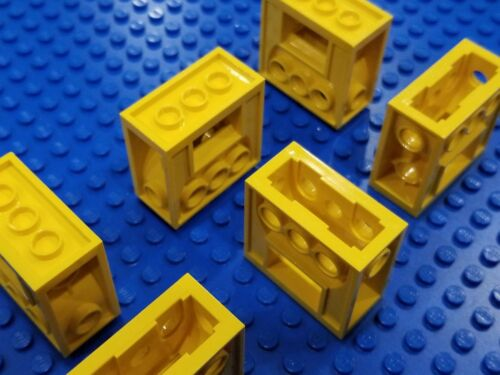 LEGO 6X YELLOW Lot of 6 Part# 6588 Technic Gearbox 2x4x3-1//3