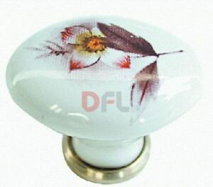 Pomello porcellana anta cassetto cucina bagno pomolo diametro 35x25 ebay - Maniglie porcellana cucina ...