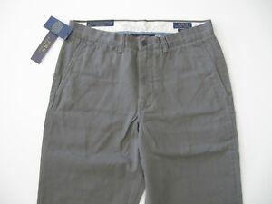 34x32 Bedford Lauren Polo da Ralph Chin Classic Grey Pant uomo Flat Chin Front wZAUwqB6