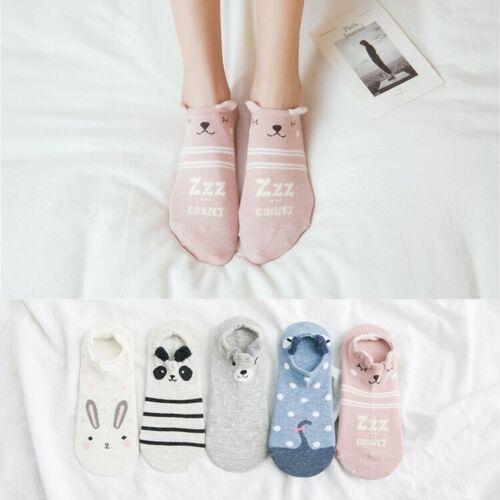 5 Pairs Summer Cartoon Character Women Ankle Socks