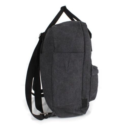Stern Rucksack Shopper Schul Tasche Canvas Jeans Stoff Schwarz Schulter Backpack