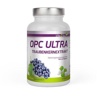 Vita2You OPC Ultra Traubenkernextrakt - 120 Kapseln mit Vitamin C - Traubenkern