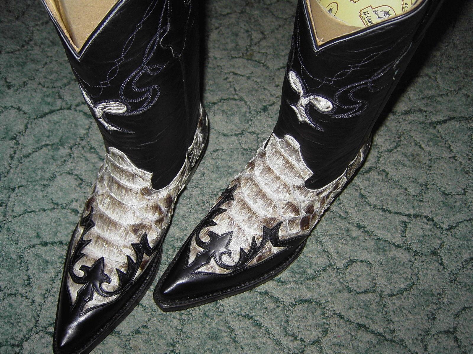 Luxuriöse Pythonleder-Boots im Western-Style -rahmengen. LS -Gr. 36 - rar - Neu!