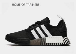 Adidas Originals Nmd R1 Black White Men S Trainers All Sizes Ebay