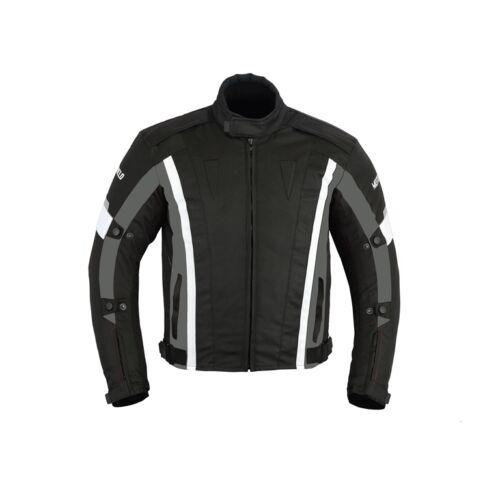 S, All Black Mens Motorcycle Waterproof Cordura Textile Jacket Motorbike CE Armours