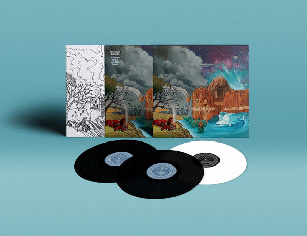 Damien Jurado Visions of Us on the Land DELUXE Edition 3x WHITE VINYL LP Record!