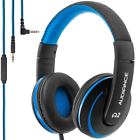 Audiance A2.0 Premium Over the Head Wired Headphones - Black/Blue