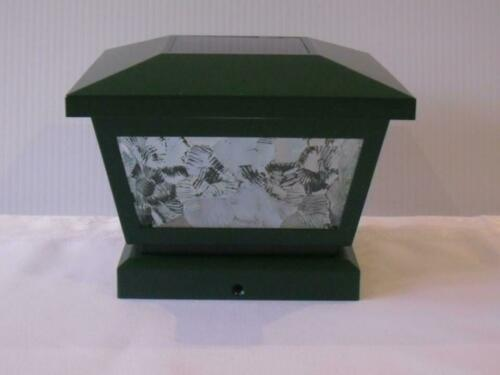 GREEN  GLASS SOLAR DECKING POST LIGHTS IDEAL FOR STATIC CARAVANS AND LODGES