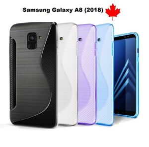 new arrivals 65d43 03f4a Details about For Samsung Galaxy A8 (2018) SM-A530w - TPU Silicone Rubber  Soft Gel Case Cover