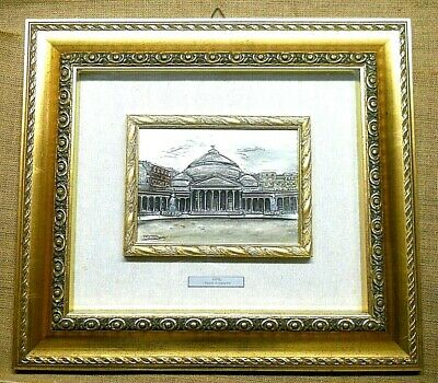 Just Miniature In Lamina D'argento Certificate Arredamento D'antiquariato Incorniciate Misurano 42 X 47 Cm Arte E Antiquariato