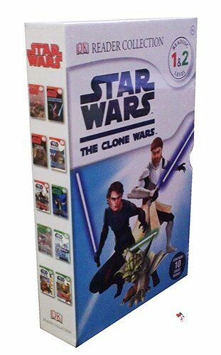 STAR WARS: THE CLONE WARS - 10 DK READER BOOK COLLECTION - READING LEVEL 1&2