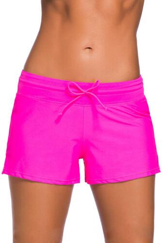 Summer Women Ladies Swim Pool Shorts Swimming Bikini Bottoms Boy Style Swimwear
