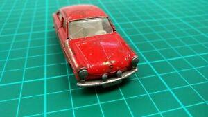 Vintage-Lesney-Matchbox-Series-N-67-Volkswagen-VW-1600-TL-rojo-coche-de-juguete-Diecast
