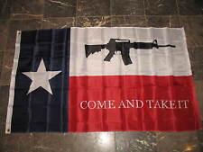 3x5 Come and Take it Texas Flag AR-15 M4 Machine Gun Rifle 3'x5' House Banner