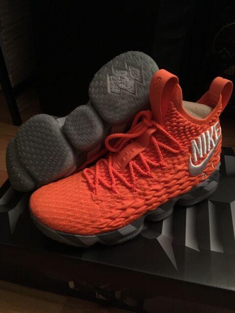 huge discount 3228f 02f56 Nike Lebron 15 XV - Orange Box - Total Orange/White Grey - Size 9 - Brand  New