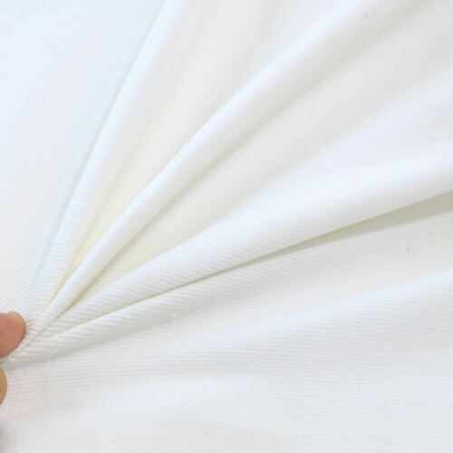 Weiß Stretch Mikro CORD Baumwoll-Stoff samtig weich Bekleidung Hose Jacke Rock