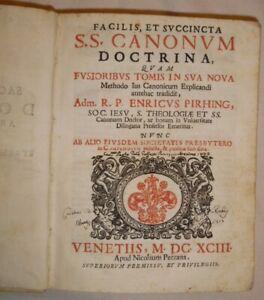 canonum-doctrina-nova-methodo-ius-canonicum-explicandi-Enricus-Pirhing-1693