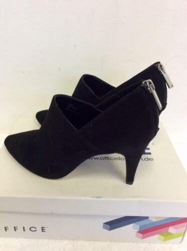 Faithful 38 Dressy New Shoe Size Black 5 Cost Office Heel Brand £70 Boots Suede BqTXw6