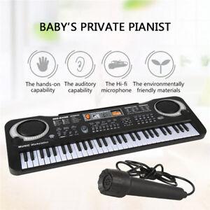 61-Key-Electric-Digital-Piano-Organ-Music-Electronic-Keyboard-w-Microphone-Gift