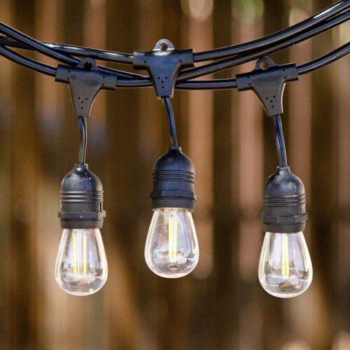 Volk 24ft Outdoor Waterproof SOLAR LED 10 Vintage Bulb String Lights 2W