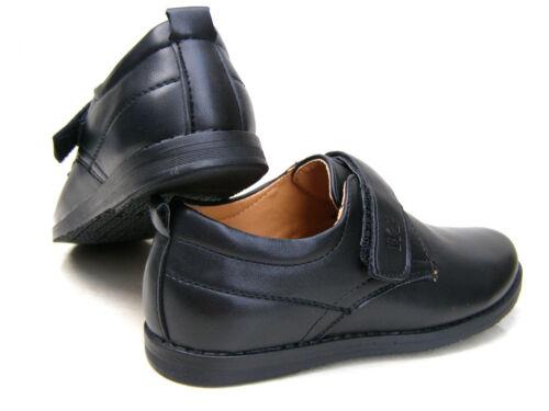 Neuf Garçons Enfants Cuir Semelles Noir Communion Formel Fête De Mariage École Chaussures