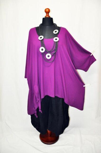 PoCo LAGENLOOK Long-Shirt Tunika Kapuze 44 46 48 50 52 54 56 58 L-XL-XXL-XXXL