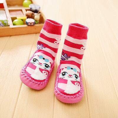 Baby Boy Girl Socks Anti Slip Newborn Animal Cartoon Shoes Slippers Boots